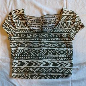 Charlotte Russe tribal print crop top